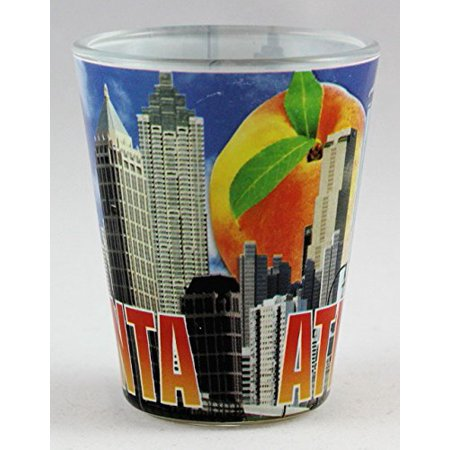 Diy Shot Glass (Atlanta Georgia Day Skyline Peach Shot Glass)