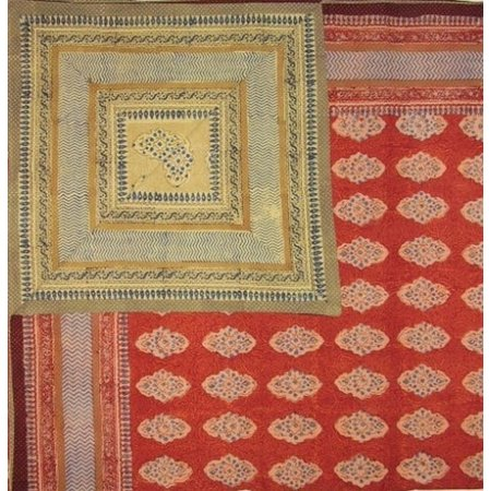 Kensington Block Print Reversible Duvet Cover Cotton  92