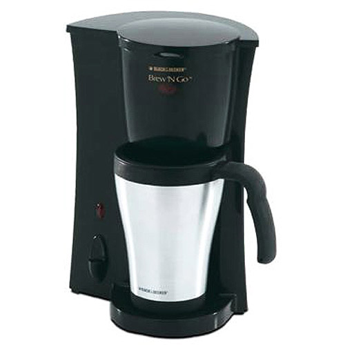 BLACK+DECKER Personal Coffee Maker, Stainless Mug, DCM18S