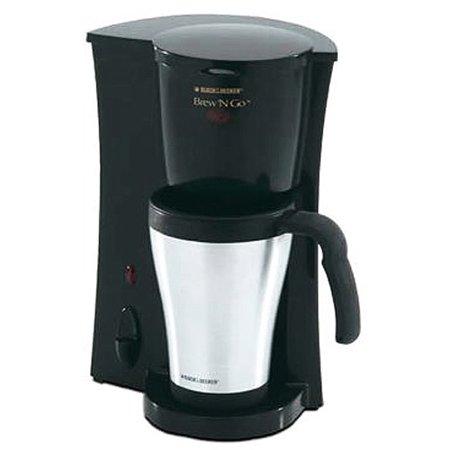 BLACK+DECKER Personal Coffee Maker, Stainless Mug, DCM18S