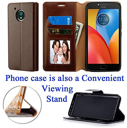"for 5.5"" Motorola moto E4 PLUS XT1773 e4plus Case Phone Case Hybrid Fold Wallet Kick Stand Card Pocket Pouch Screen Flip Cover Pink"
