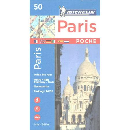 Michelin paris pocket map 50 - folded map: