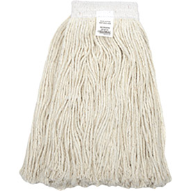 16 oz. Cotton Cut-End Mop Head, 4Ply, Wide Band, White, Lot of 1 by Greenwood Mop & Broom Inc.
