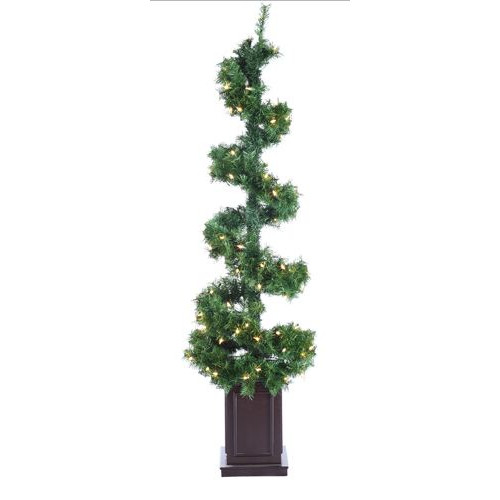 Tori Home Helix Spiral Potted Artificial Topiary Tree
