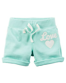 Baby Girls' French Terry Shorts, Mint, 3m