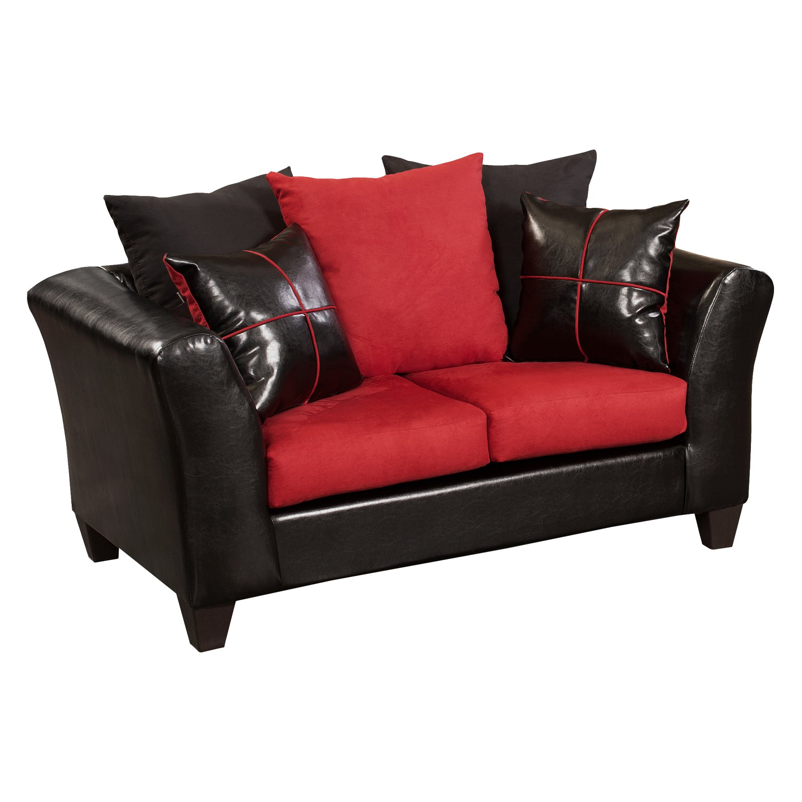 Flash Furniture Riverstone Victory Lane Cardinal Loveseat