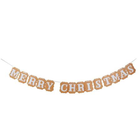 Unique Bargains Party Paper MERRY CHRISTMAS Letters Decor Photo Prop Banner - Merry Christmas Photo