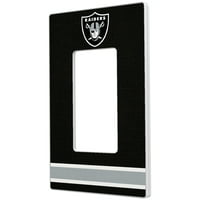 Oakland Raiders Stripe Single Rocker Light Switch Plate - No Size