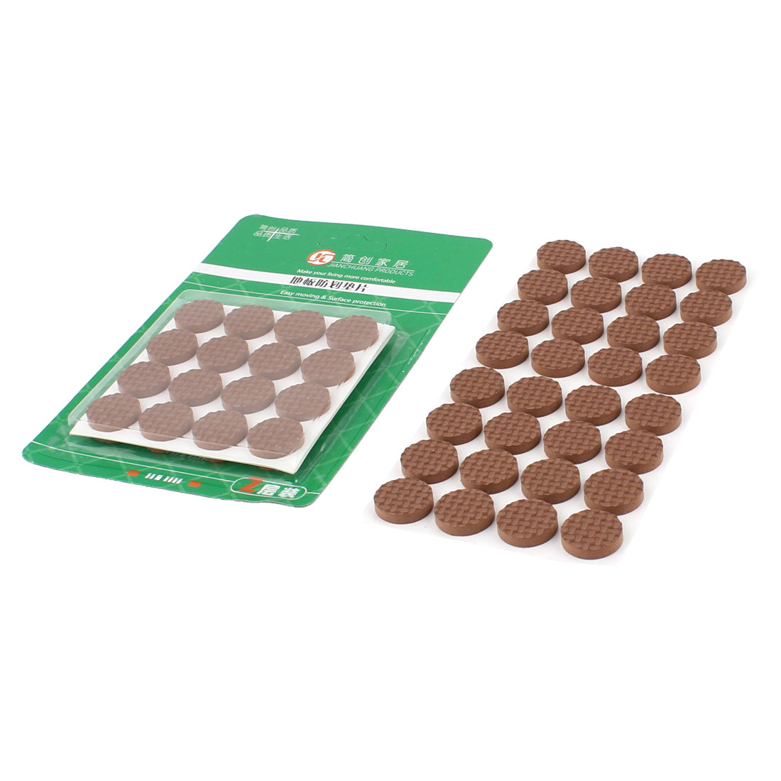 Table EVA Round Anti Scratch Furniture Feet Pads Covers Brown 18mm Dia 64pcs - image 1 of 1