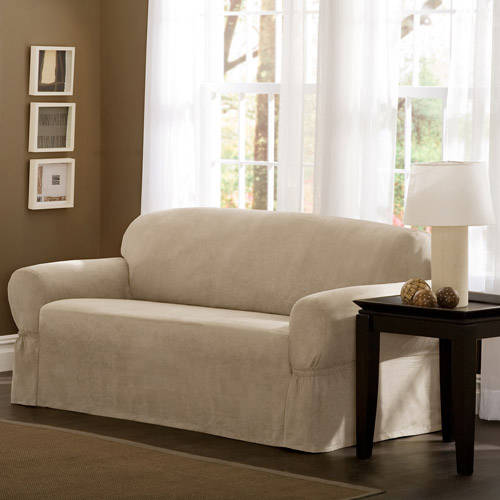 Mainstays Faux Suede Loveseat Slipcover