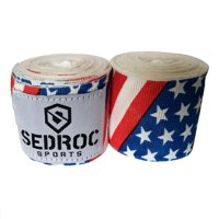 "Sedroc Boxing Mexican Style 180"" Hand Wraps - USA Flag"