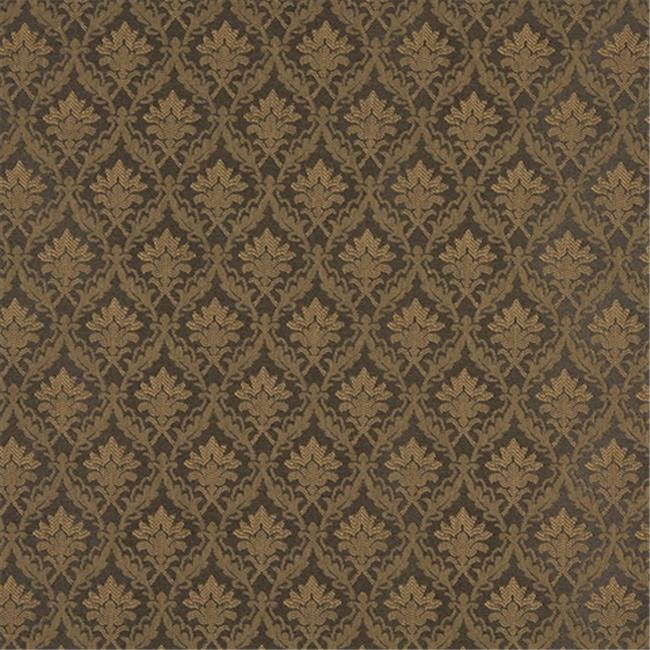 Designer Fabrics A142 54 in. Wide Brown Foliage And Bouquets Upholstery Fabric