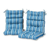 Greendale Home Fashions Kinnabari Outdoor High Back Chair Cushion, Set of 2