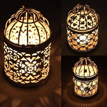Girl12Queen Antique Moroccan Style Lantern Hollow Candle Holder Stand Wedding Romantic Decor