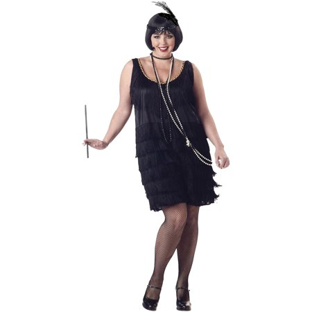 Flapper Fashion Dress Adult Halloween Costume - Flapper Dress Fashion