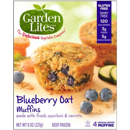 garden lites blueberry oat muffins 8 oz 4 ct