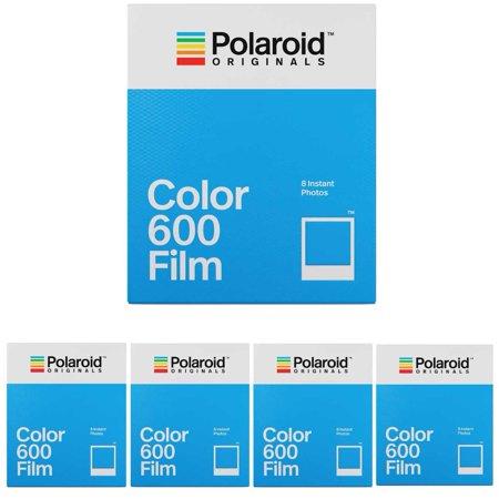 Polaroid Originals Instant Classic Color Film for 600 Cameras 5-Pack ()