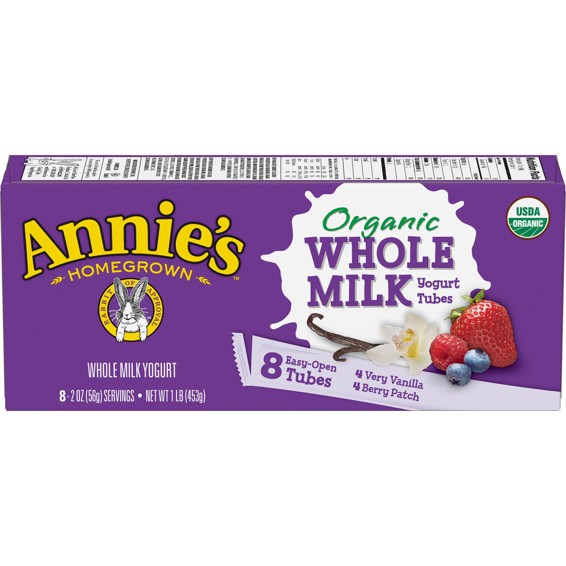 Annie's Organic Berry Patch/Very Vanilla Whole Milk Yogurt Tubes 16 oz