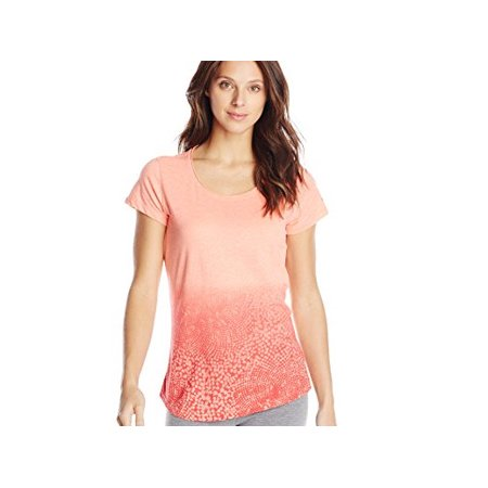 Columbia Women's Size Medium Short Sleeve Horizons Scoop Neck Tee, Coral Flame (Columbia Womens Coral)