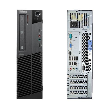 Lenovo ThinkCentre M82, Small Form Factor, Intel Core i3-3220 up to 3.30 GHz, 8GB DDR3, NEW 128GB SSD, DVD-RW, Microsoft Windows 10 Home 64-bit - image 1 of 3