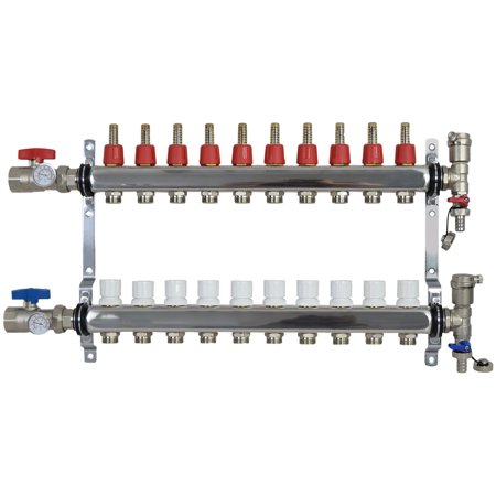 manifold stainless steel radiant floor heating set kit