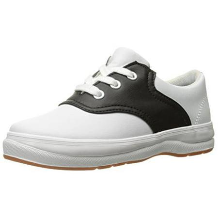 Keds School Days II Uniform Sneaker (Toddler/Little Kid), White/Black, 9 M US Toddler