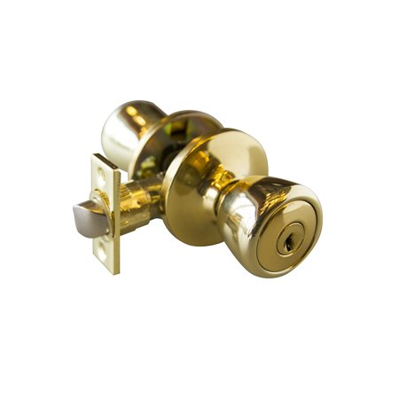 Design House 728295 Terrace 6-Way Universal Entry Door Knob, Polished Brass Brass Center Door Knob
