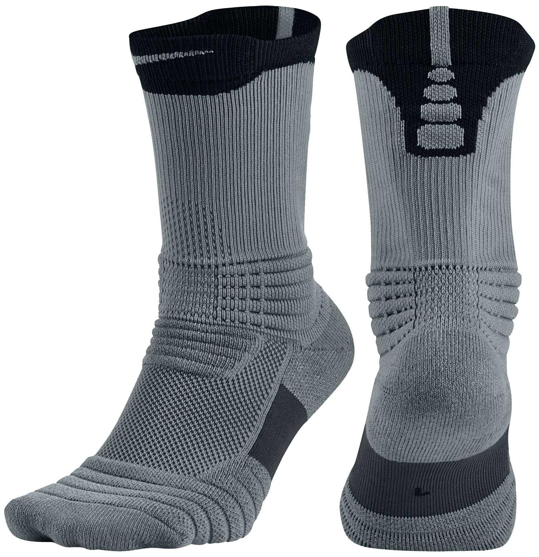 Nike Elite Versatility Crew Basketball Socks - Cool Gry/B...