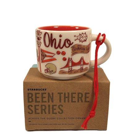 Starbucks Coffee Been There Ohio Ceramic Ornament Espresso Mug New Box ()