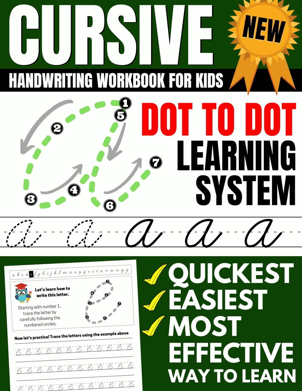 Cursive Handwriting Workbook For Kids : Dot To Dot Cursive Practice Book  (Beginning Cursive) (Paperback) - Walmart.com - Walmart.com