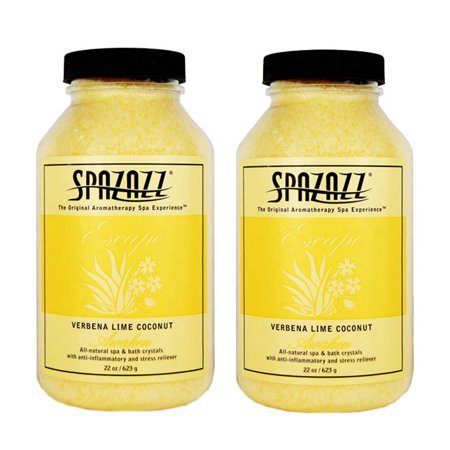 - Spazazz Aromatherapy Spa and Bath Crystals - Verbena Lime Coconut 22 oz (2 Pack)