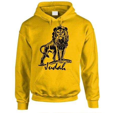 LION OF JUDAH - christian jesus christ god - Fleece PULLOVER Hoodie (Of Pullover Hoodie)