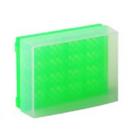 Bio Plas 0031F 96 Well Preparation Rack W Cover   5 Pk   Fluorescent Green