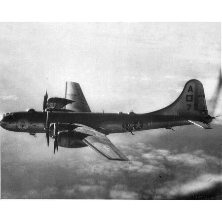 LAMINATED POSTER Boeing B-29 42-42593 497th Bomber Group with nose art American Maid. Poster Print 24 x (Boeing B-29 Bomber)