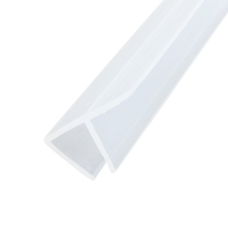 78.7-inch F Shaped Frameless Window Shower Door Seal Clear for 1/4-inch (Glass Shower Door Seal)