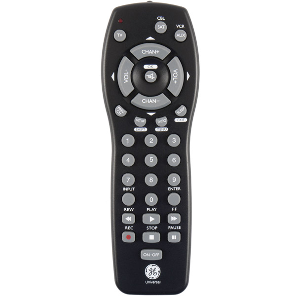 Ge 3 Devices Universal Remote Control - Tv, Vcr, Dvd Player, Cable Box, Satellite Box - Universal Remote - Jasco 24991