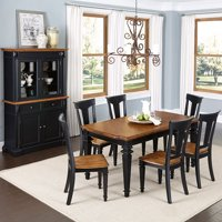 Home Styles Americana Kitchen and Dining Furniture Collection Black Rubbed Finish