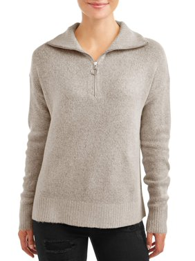Jason Maxwell Women's 1/4 Zip Pullover Sweater