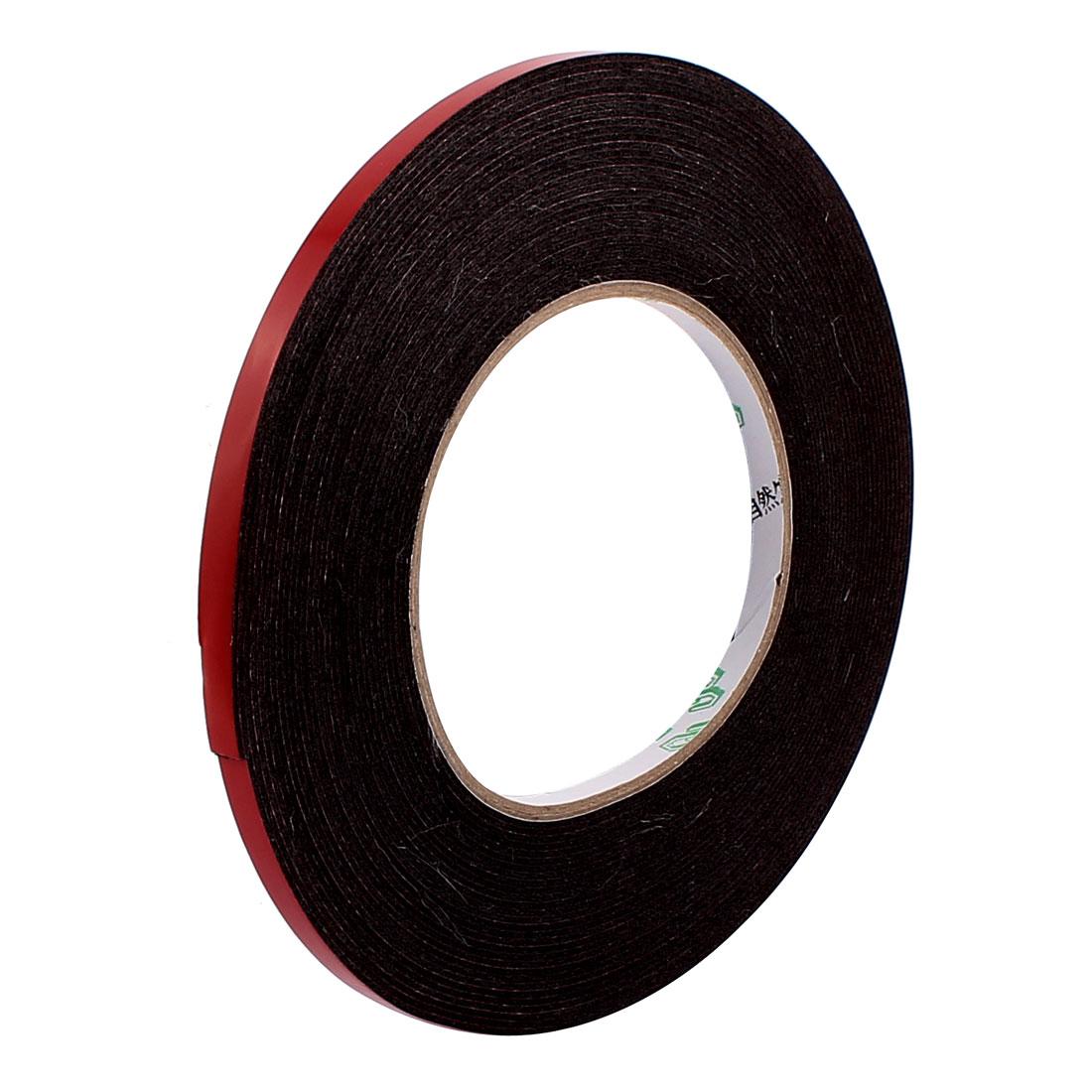 6mmx1mm Double Sided Sponge Tape Adhesive Sticker Foam Glue Strip Sealing 33Ft