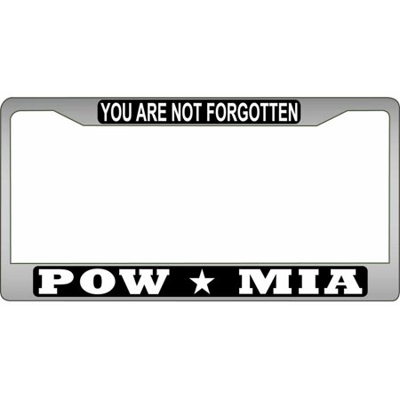 POW MIA Chrome License Plate (Mia License Plate Frame)