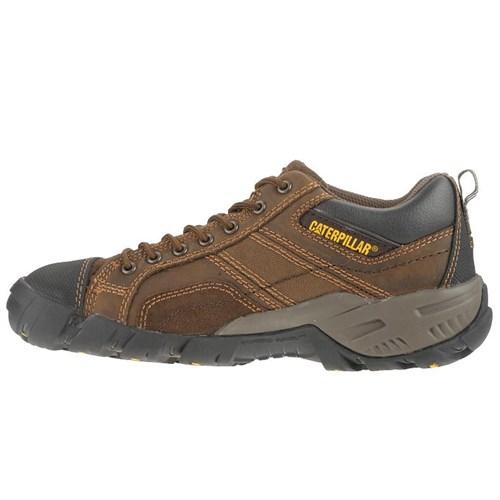 """CAT Footwear Argon Composite Toe - Dark Brown 8.0(M) Toe Work Shoe"""