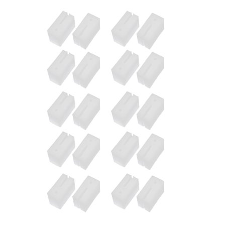 41mmx21mmx28mm Plastic Pulley Fixing Block White for Door Windows 20pcs - image 5 of 5