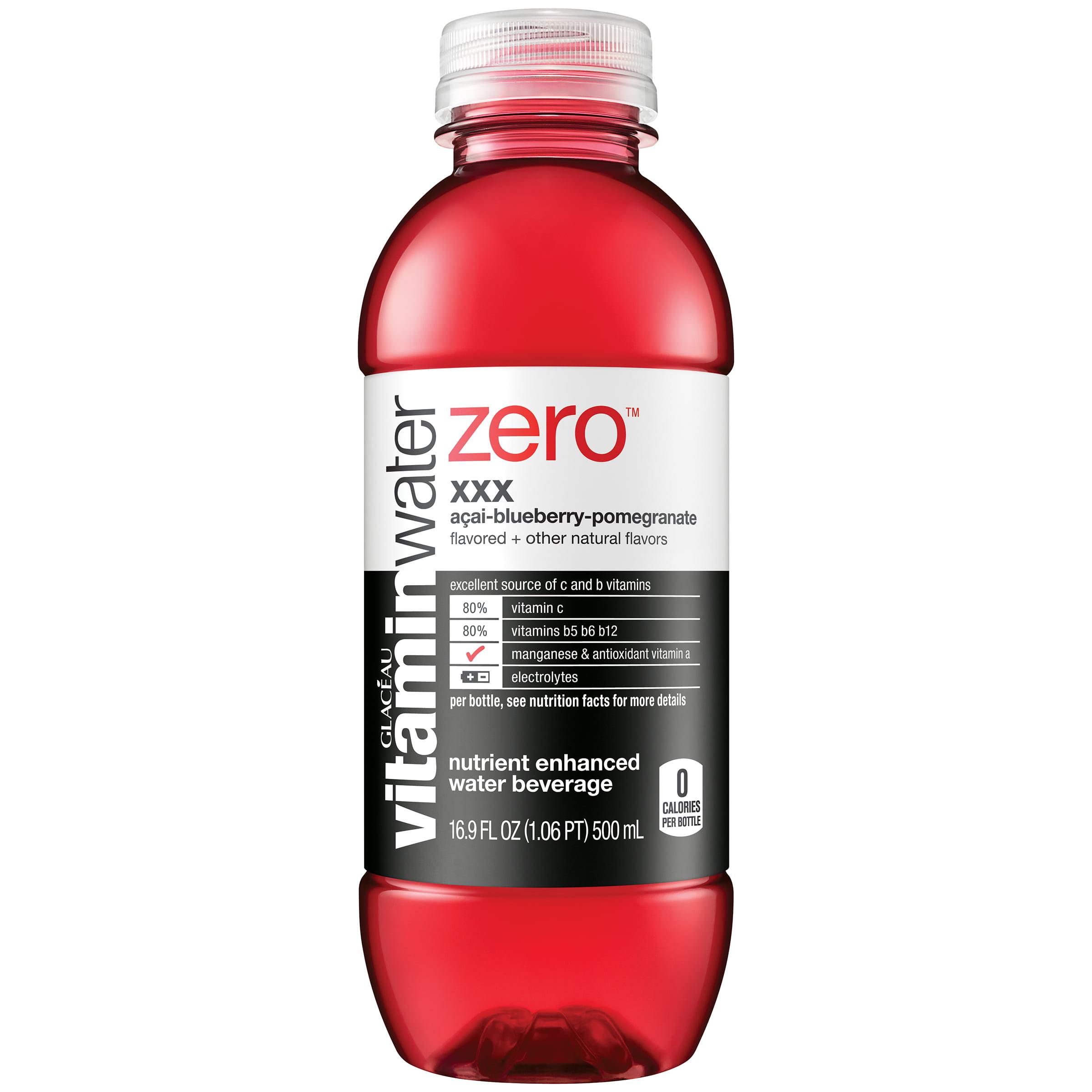 (24 Bottles) Vitaminwater Zero, XXX, 16.9 Oz, 6 Count