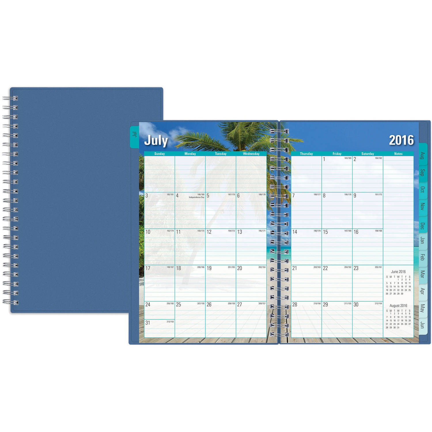 "Endless Summer for Blue Sky Academic Year 2016-2017 Weekly/Monthly 5"" x 8"" Planner"