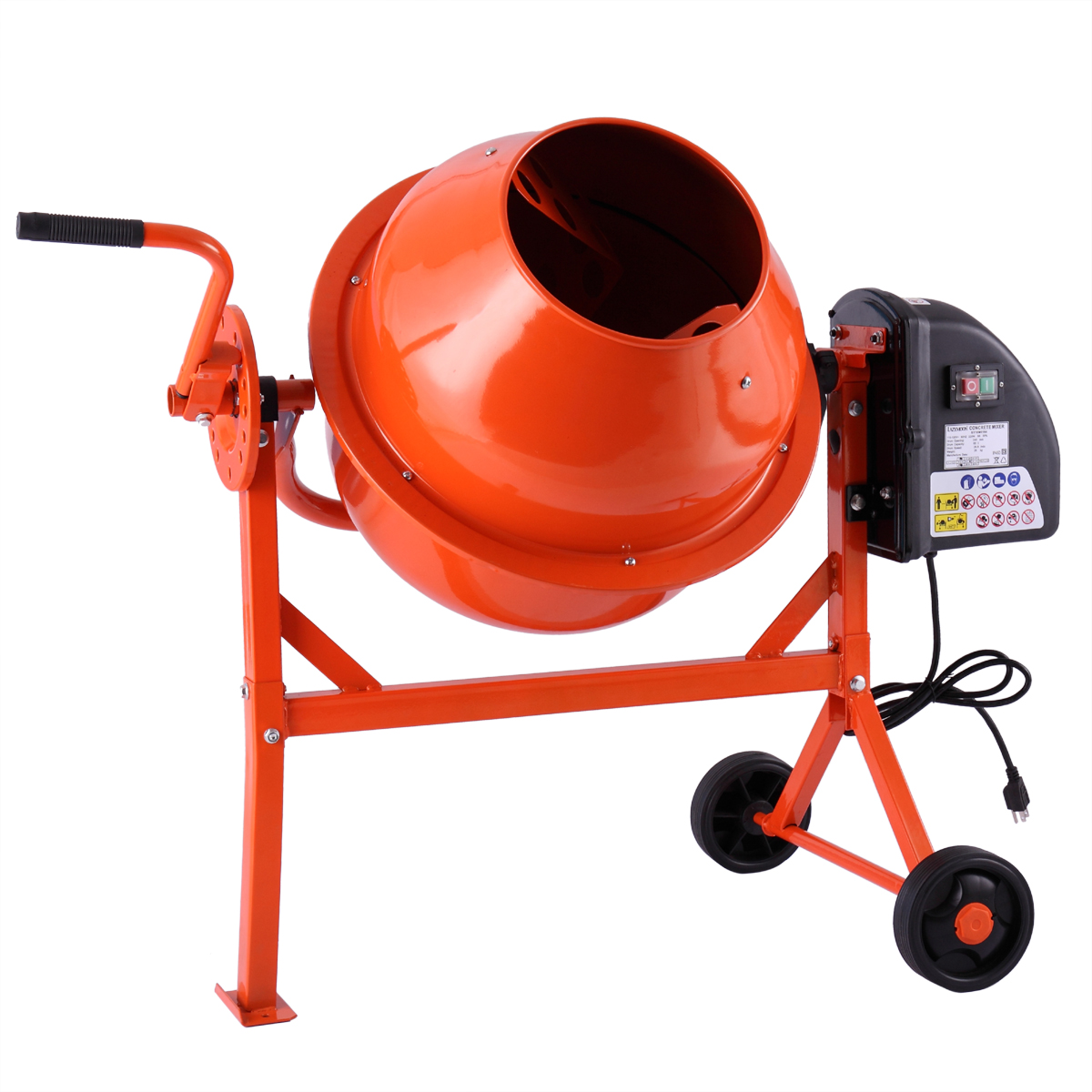 Lazymoon 2-1 5cuft Portable Electric Concrete Cement Mixer Barrow Machine Mixing mortar by Lazymoon
