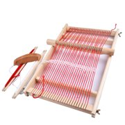 Diahey Elm Looms Wooden Tapestry Hand-Knitted Machine DIY Woven Set Weaving Loom Kit