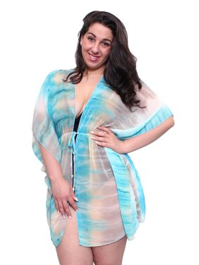 3bd9fb71bbc Product Image Plus Size Chiffon Open Front Swimwear Cover-up Beach Dress  Made in the USA