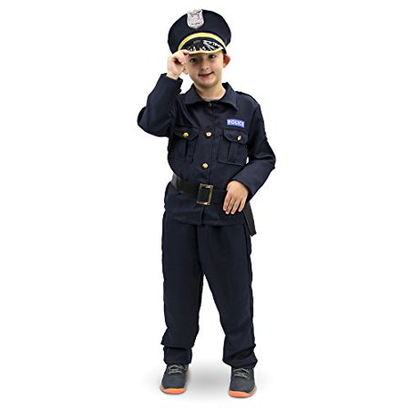 Boo! Inc. Plucky Police Officer Children's Halloween Dress Up Roleplay - Sewn Up Mouth Halloween