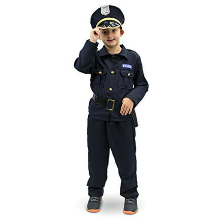 Boo! Inc. Plucky Police Officer Children's Halloween Dress Up Roleplay - Costume With White Dress