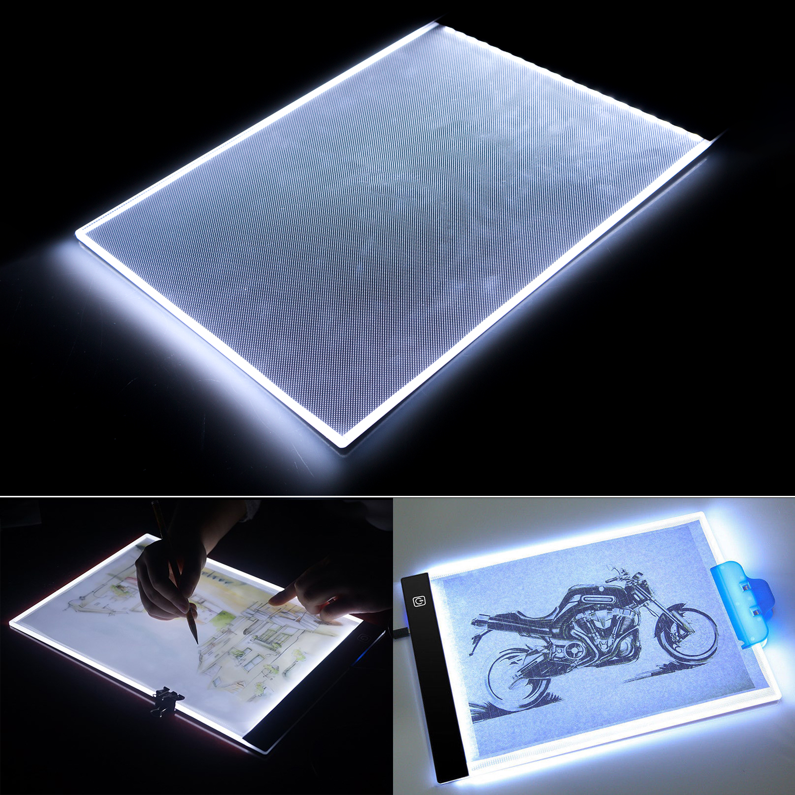 TSV A4 Ultra-thin Portable LED Light Box tracer USB Power LED Artcraft Tracing Light Table for Artists,Drawing, Sketching, Animation